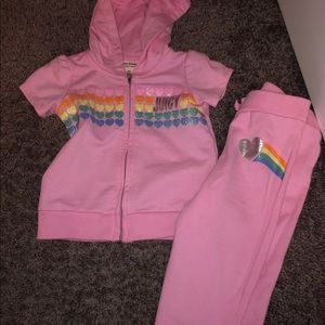 Baby girls juicy couture sweat suit!